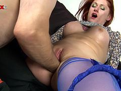 Gorgeous Redhead Is Fisted And Fucked By A Guy