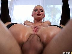 Big-booty blonde Joslyn James has a pulsing anal orgasm