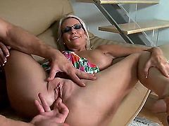 Emma Starr called her best friends handsome son Bill Bailey to help her to move the sofa, but Emma has much more exciting and hot ideas for Bill and his big dick.