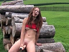 Masturbating onto the logs
