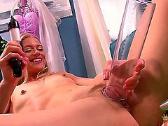 Awesome Bella Bends masturbates and plays with a toy
