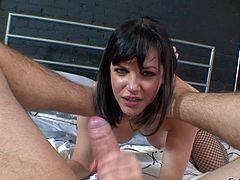 Bobbi Starr gets her hairy hole drilled POV style