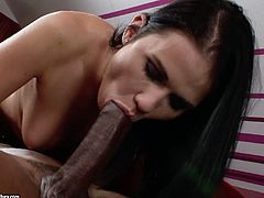 Steamy interracial scene from 21 Sextury! Tremendous black haired babe Denise Sky sucks giant BBC in 69 pose and gets her hungry cunt licked. Eventually she gets her soaking snatch fucked on top.