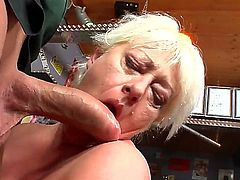 Watch this sexy granny drops to her knees and sucks young cock like a boss. Did I mention shes pleasantly plump Well, she sure as fuck is, friendos. So, have at it: click play!