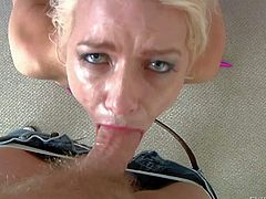 Anikka Albright gets her mouth fucked rough