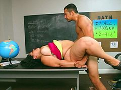 gorgeous latina Karla Lane fucks her teache