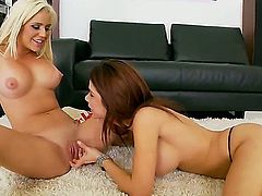 Take a look at these lesbian girls who love each other so much! Their names are: Alexa Nicole and Spencer Scott. Watch cool beauties with nice boobs giving cunnilinguses.