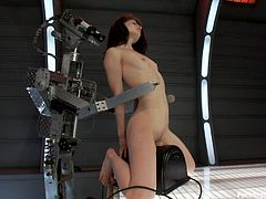 See how the beautiful babe Sensi Perl reaches an orgasm today when she gets her cunt penetrated deep by a fucking machine that just doesn't stop the pussy pumping.