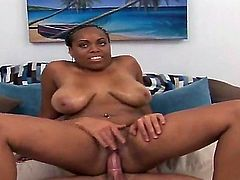 Awesome interracial fuck with Josh and his ebony slut whose name is Tatiana