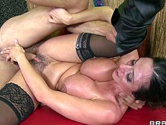 Check out super hot milf Ariella Ferrera and her big jugs! She got them squeezed by the shaman and now he will stretch her tight pussy with his mighty cock!