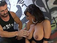 Lovely hot babe fucked outdoor
