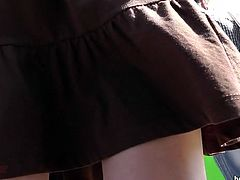 Voyeur likes filming under the skirts and having his desires fullfilled