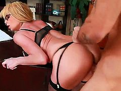 Cheating on her hubby is what busty blonde slutty Taylor Wane does all the time and this is how it looks like when she is doing it in front of the camera.