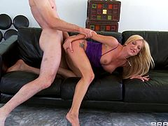 Stunning milf likes to be the slave of this naughty hunk ready to smash her