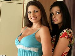 Two kinky and playful babes Aletta Ocean and Zafira are so fucking sexy! They get naked and start fucking each other.