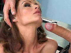 Sophie Lynx spreads her legs in front of every dick that desires her cunny. This lovely co-worker is the pure treasure for her partners. The brilliant chick gets licked and fucked.