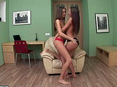 Anne and Sweet Lana are two magically sweet young girls that cant resist the temptation to get lesbian action started here and now in front of the camera for your viewing pleasure. They play with toy after carpet munching.