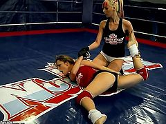 Even though they are just amateurs, Leyla Black and White Angel love to show their wrestling skills in this video and to make each other super horny in no time...