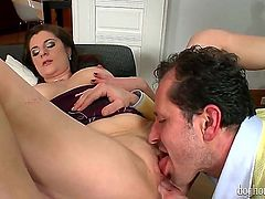 This is what swing orgy is all about. Delicious girls Angie and Eve Sweet are showing their skills and how much they love to gag on hard long boners.