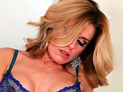 When delicious blonde Randy Moore spreads her legs, she is about to show off that pink slippery tunnel of love which is totally ready for a long hard penis.