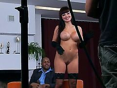 Today we wanna presents an amazing, exciting and inspiring backstage movie with fascinating, busty bombshell named Aletta Ocean and her lucky Ebony fucker.