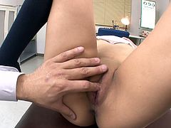 Emotional submissive Japanese student in uniform turns into a torrid dick rider. This pale girlie with nice butt likes pleasing a man and does it perfectly well. Just check her out in Jav HD sex clip and be sure to gain satisfaction right away.