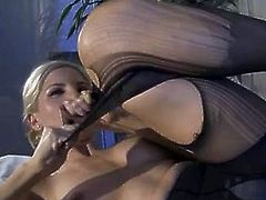 Ashley fires hussy Honey taking off her outwear