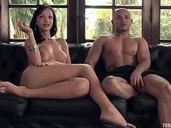 She ties this dude on the trees and takes over his asshole. Babe loved the way he sucked her fat cock. Real amazing fetish story!