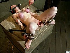There's going to be extreme bondage and toying action in this video with the tattooed vixen Ruby Reaper who enjoys and suffers the BDSM.