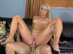 Svelte hussy Zoey Paige rides a long cock in reverse cowgirl style