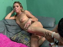 Cum addicted slim and hot blond haired bride is already naked. The wedding photos will be surely impressive, cuz kinky blondie with nice tits and smooth ass desires to get her wet juicy pussy licked and tickled by room and doesn't hesitate to suck the photographer's dick for sperm.