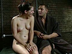 Horny Bobbi Starr gets pounded deep after she was tied up