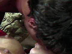 When eager stud Alan Stafford sticks his dirty hands under the panties of amazing milf Persia Pele, she starts to breath heavily and moan like the hungriest whore on the planet.