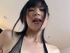 Saki Aoyama is a sexy Japanese milf who can satisfy three dicks at once with her hands and a foot.