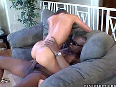 Naomi Russell is so hot and lickerish and she likes feeling big cocks in her holes. Today she is riding big black stick and getting off by doing all these wild things