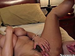 Brunette hot pants Lisa Ann gets her ruined cunt poked hard