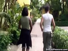 Slutty indian woman gets down and dirty with two men.  She gives head and gets her pussy fucked from behind till orgasm. Don't miss this hot amateur threesome!