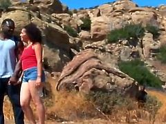 Outdoor Voyeur Fuck For Sabara And Her Dark Dude As They Get It On In The Middle Of Nowhere After Going For A Walk.