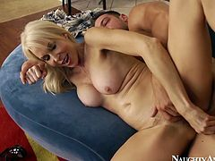 Naughty America sex clip presents a voracious and whorish blond slut with big boobs. Ardent chick loves feeling a deep dick penetration into her twat and that's the reason she enjoys being banged doggy.