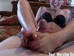 Foot fetish compilation of sexy babes getting their sexy feet worshiped from their girlfriends with licking those tootsies and sucking on toes to one babe giving a sweet footjob and milking his cock.