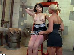 Two flamboyant and perverted lesbian chicks Kathia Nobili and Adelaida want to play some dirty games and today you can get relsish with hot bdsm performance of these lesbian whores