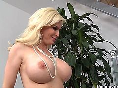 There is nothing big tit pornstar Diamond Foxxx loves to do more than to feel a hard throbbing boner up her nasty tight little cunt. Her boobs go up and down always.
