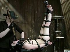 This kinky brunette is such a masochist! But she prefers being a sex slave and in this scene honey gets tortured pretty hard.