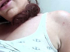 Very hot POV sex scene with hot ass brunette.Watch this hot sexy brunette giving hot blowjob and making that cock ready for fucking her sweet pussy hard.She rides that fat cock hard and nice,bend over and takes it deep in doggystyle for creamy cumshot on her big ass.