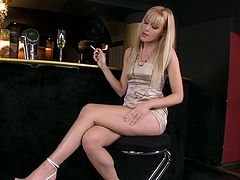 Gorgeous girls in sexy lingerie and stockings smokes cigarettes and show their beauties in compilation video.