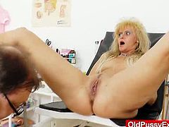 In this vid you will see Patrice the curvy blonde mature, whole she visited the clinic to get her pink cunt checked out with a mature gyno exam