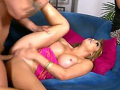 Crazy hot and defiant man Kurt Lockwood brought home his exciting busty blonde mistress Mia Lelani and fucks her in front of his smoking hot brunette wife.