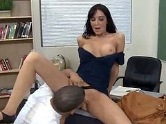 Caping mine teacher's pussy. swallowing sex