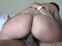 See the vicious redhead temptress Angell Summers stripping off before giving her man a hell of a blowjob. Then she's ready for her clam to be drilled balls deep into a massive orgasm.