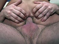 Her first time trying anal was a painful and pleasurable experience as she was gaped like crazy but came in the end too.